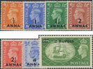 PAs Eastern Arabia SG35-41 1950-1 Definitive Stamps of GB King George VI surch set of 7 (MDES/128)